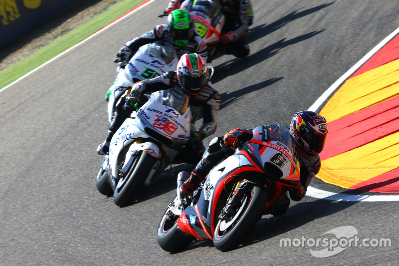 Stefan Bradl, Aprilia Racing Team Gresini; Nicky Hayden und Eugene Laverty, Aspar MotoGP Team
