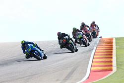 Aleix Espargaro, Team Suzuki MotoGP, Bradley Smith, Tech 3 Yamaha et Cal Crutchlow, Team LCR Honda