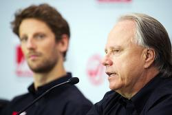 Romain Grosjean, Haas F1 Team et Gene Haas, Haas F1 Team