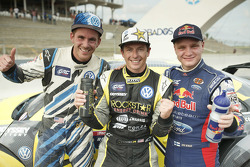 Winner Tanner Foust, Andretti Autosport Volkswagen, second place Joni Wiman, Olsbergs MSE Ford, third place Scott Speed, Andretti Autosport Volkswagen