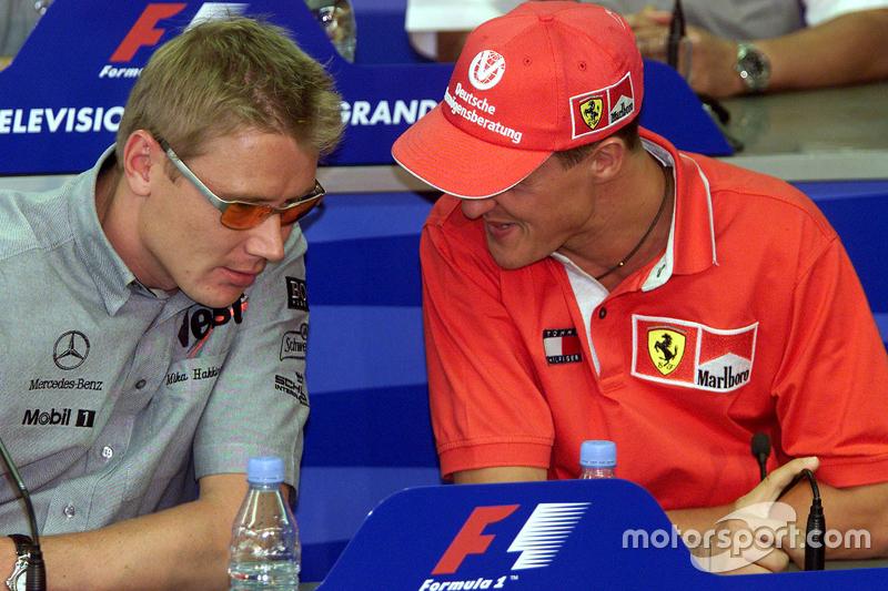 Mika Hakkinen, McLaren, dan Michael Schumacher, Ferrari