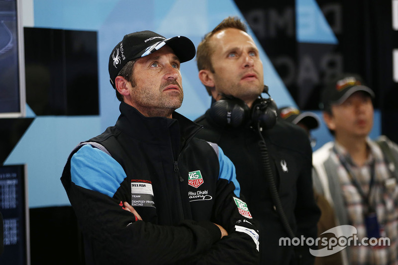 Patrick Dempsey with Marco Seefried, Dempsey Proton Racing