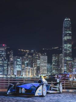 Autos de fórmula E toman el centro de Hong Kong