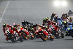 Partenza: Andrea Iannone, Ducati Team e Marc Marquez, Repsol Honda Team