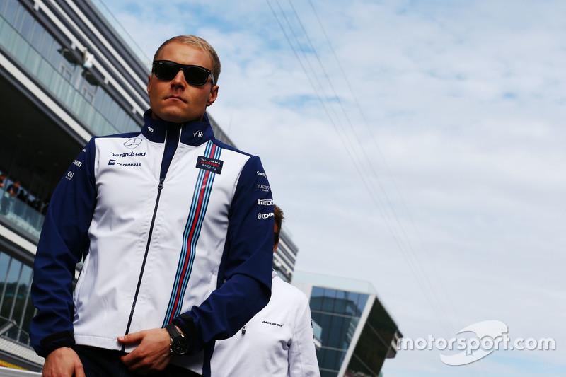 Valtteri Bottas, Williams on the drivers parade