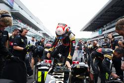 Romain Grosjean, Lotus F1 E23 sur la grille