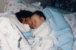 Nelson Piquet e Nelsinho Piquet ainda criança
