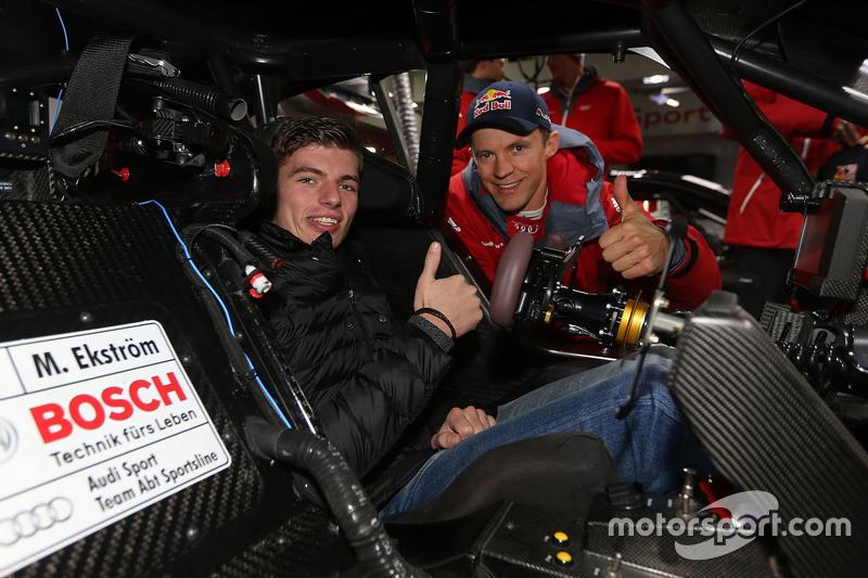 Max Verstappen, Red Bull Racing, ile Mattias Ekström, Audi Sport - Takım: Abt Sportsline, Audi A5 DT