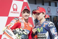 Il secondo in qualifica Andrea Iannone, Ducati Team con Jorge Lorenzo, Yamaha Factory Racing