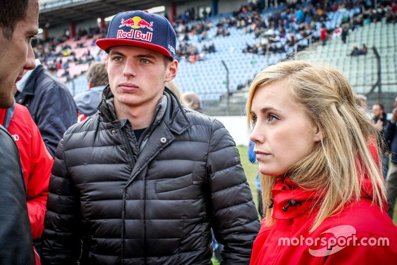 Max Verstappen mit Mikaela Ahlin-Kottulinsky