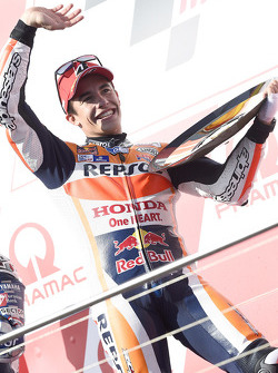 Podium: race winner Marc Marquez, Repsol Honda Team