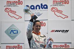 Valentina Albanese, Seat Motorsport Italia festeggia sul podio la vittoria della gara e del campionato 2015