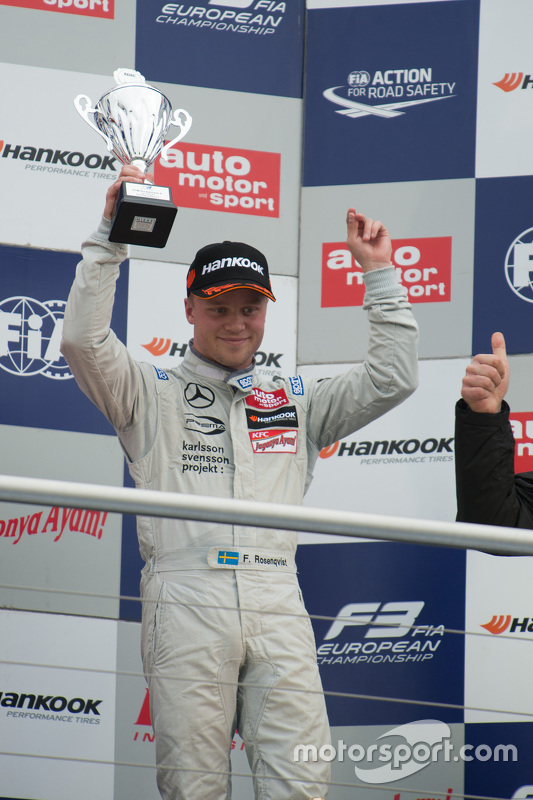 Race 1 third place Felix Rosenqvist, Prema Powerteam Dallara Mercedes-Benz