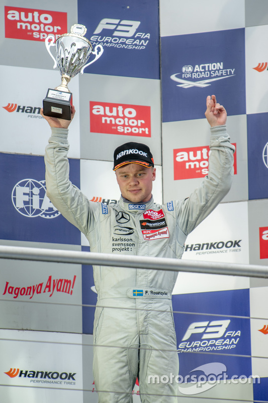 Race 2 third place Felix Rosenqvist, Prema Powerteam Dallara Mercedes-Benz