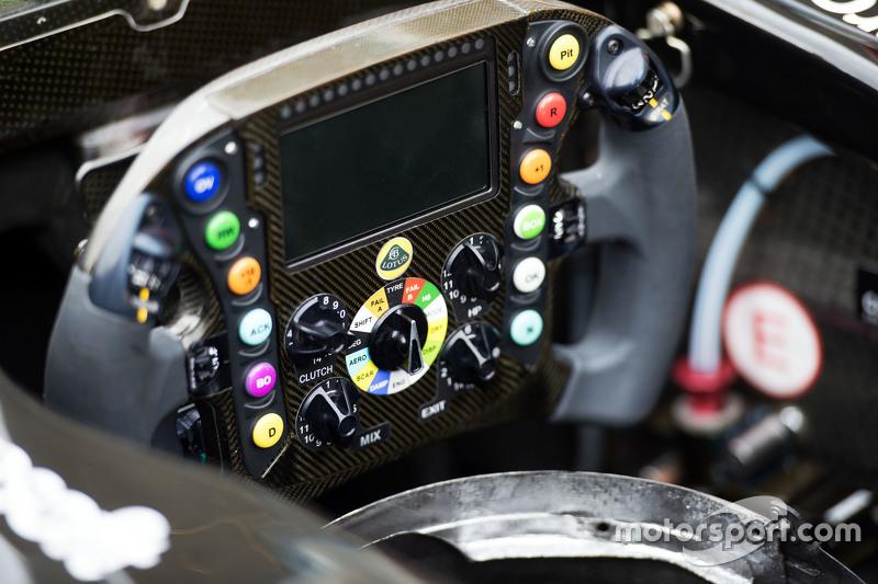 Lotus F1 E23 steering wheel