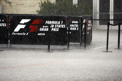 Heavy rainfall delays the start of FP2