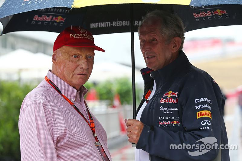 Niki Lauda, Mercedes con el Dr Helmut Marko, Red Bull Motorsport
