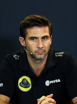 Matthew Carter, Lotus F1 Team CEO in the FIA Press Conference