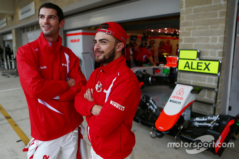 (L to R): Alexander Rossi, Manor Marussia F1 Team with team mate Will Stevens, Manor Marussia F1 Team