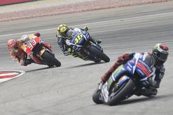 Jorge Lorenzo, Yamaha Factory Racing, Valentino Rossi, Yamaha Factory Racing en Marc Marquez, Repsol
