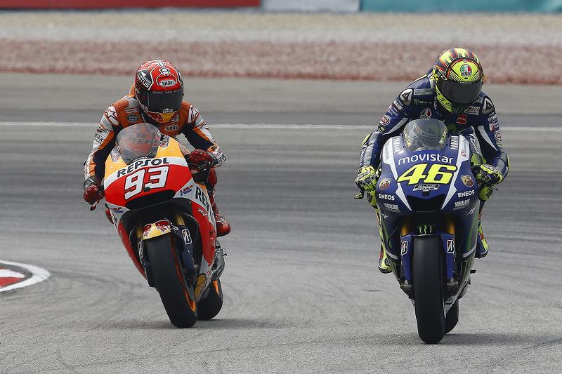 Rossi op het matje na clash met Marquez in Sepang