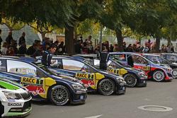 Le auto del Rally cars pronte all'azione