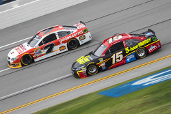 Clint Bower, Michael Waltrip Racing Toyota and Alex Bowman, Tommy Baldwin Racing Chevrolet