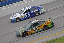 J.J. Yeley, BK Racing Toyota and David Ragan, Michael Waltrip Racing Toyota