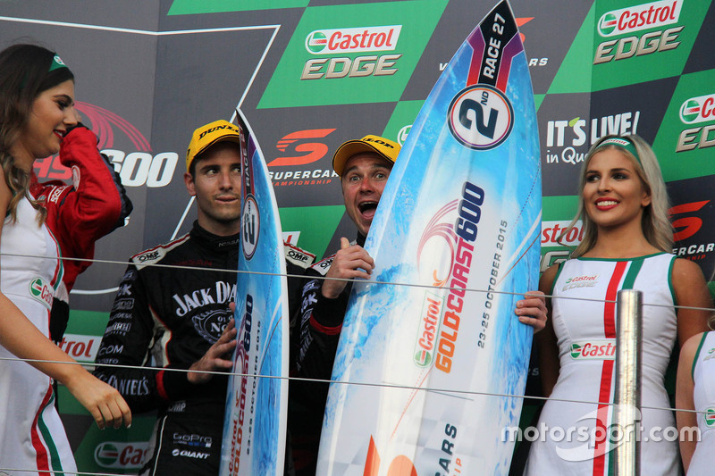 Podium: second place Rick Kelly and David Russell, Nissan Motorsports
