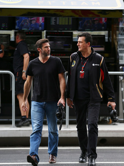 Matthew Carter, Lotus F1 Team CEO with Federico Gastaldi, Lotus F1 Team Deputy Team Principal