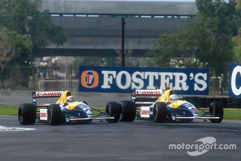 Riccardo Patrese et Nigel Mansell, Williams