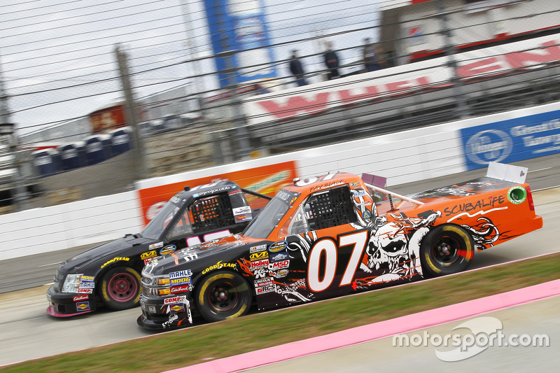 Ray Black Jr., SS-Green Light Racing Chevrolet and Jennifer Jo Cobb, Jennifer Jo Cobb Racing Chevrol