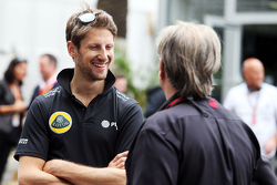 Romain Grosjean, Lotus F1 Team with Gene Haas, Haas Automotion President