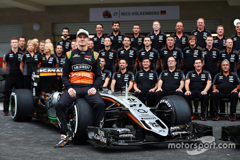 Ніко Хюлкенберг, Sahara Force India F1 на командному фото
