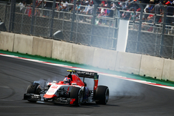 Alexander Rossi, Manor Marussia F1 Team locks up under braking