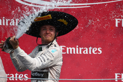 Podium: First place Nico Rosberg, Mercedes AMG F1 W06