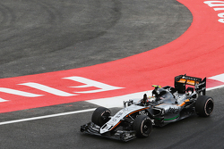 Sergio Perez, Sahara Force India F1 VJM08 at the end of the race