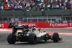 Sergio Pérez, Sahara Force India F1 VJM08 ondas al final de la carrera