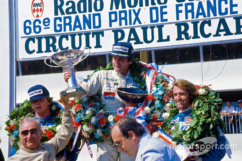 Podium du GP de France 1980