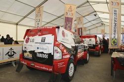 Red Line Off-Road Team Mitsubishi Pajero at scrutineering