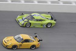 #83 Farnbacher Loles Motorsports Porsche GT3 Cup: Ben McCrackin,Ross Smith, Russell Walker, #75 Krohn Racing Pontiac Lola: Tracy Krohn, Eric van de Poele, Oliver Gavin