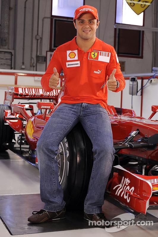 Felipe Massa mit dem neuen Ferrari F2008