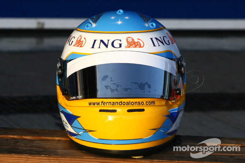 Helmet Fernando Alonso, Renault F1 Team