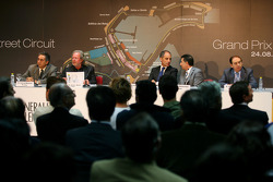 Press conference to present the new street circuit of Valencia