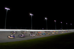 Pace laps: Michael Waltrip leads the field