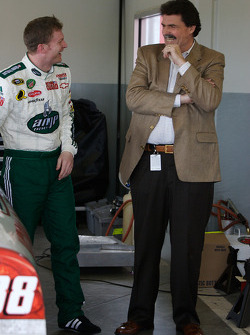 Dale Earnhardt Jr. and NASCAR President Mike Helton