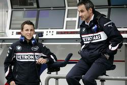 Christian Klien, BMW Sauber F1 Team, Pitlane, Box, garajı ve Beat Zehnder, BMW Sauber F1 Team, Takım Menajeri