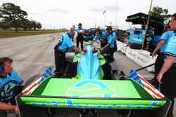 Rahal Letterman Racing team members at work