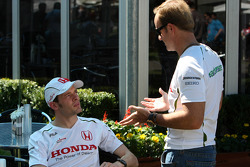 Alexander Wurz, Test Driver, Honda Racing F1 Team, Rubens Barrichello, Honda Racing F1 Team