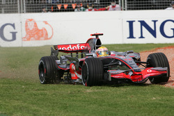 Lewis Hamilton, McLaren Mercedes  in the gravel